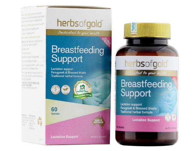 Herbal of gold cho con bú support viên uống lợi sữa