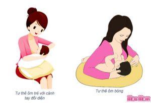 cho bé bú đúng tư thế cũng giúp giảm nôn trớ ở trẻ sơ sinh