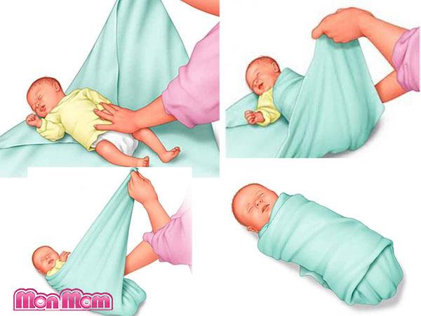 cách thay tã vải cho trẻ sơ sinh đúng cách