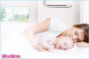 Những điều cần lưu khí khi cho trẻ nằm điều hòa